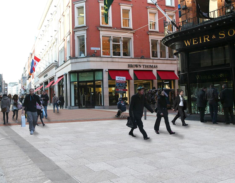 Grafton Street Dublin protected with PROTECTiT100 impregnation sealer